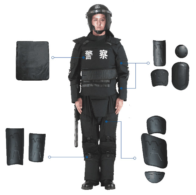 Full Body Anti Riot Suit Gear Armor With Carrying Bag For Police And Military FBF