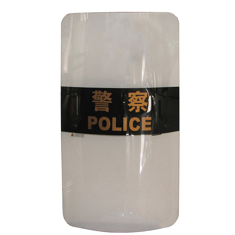 Police Use Anti Riot Shield Polycarbonate Ballistic Shield With Folding Handle
