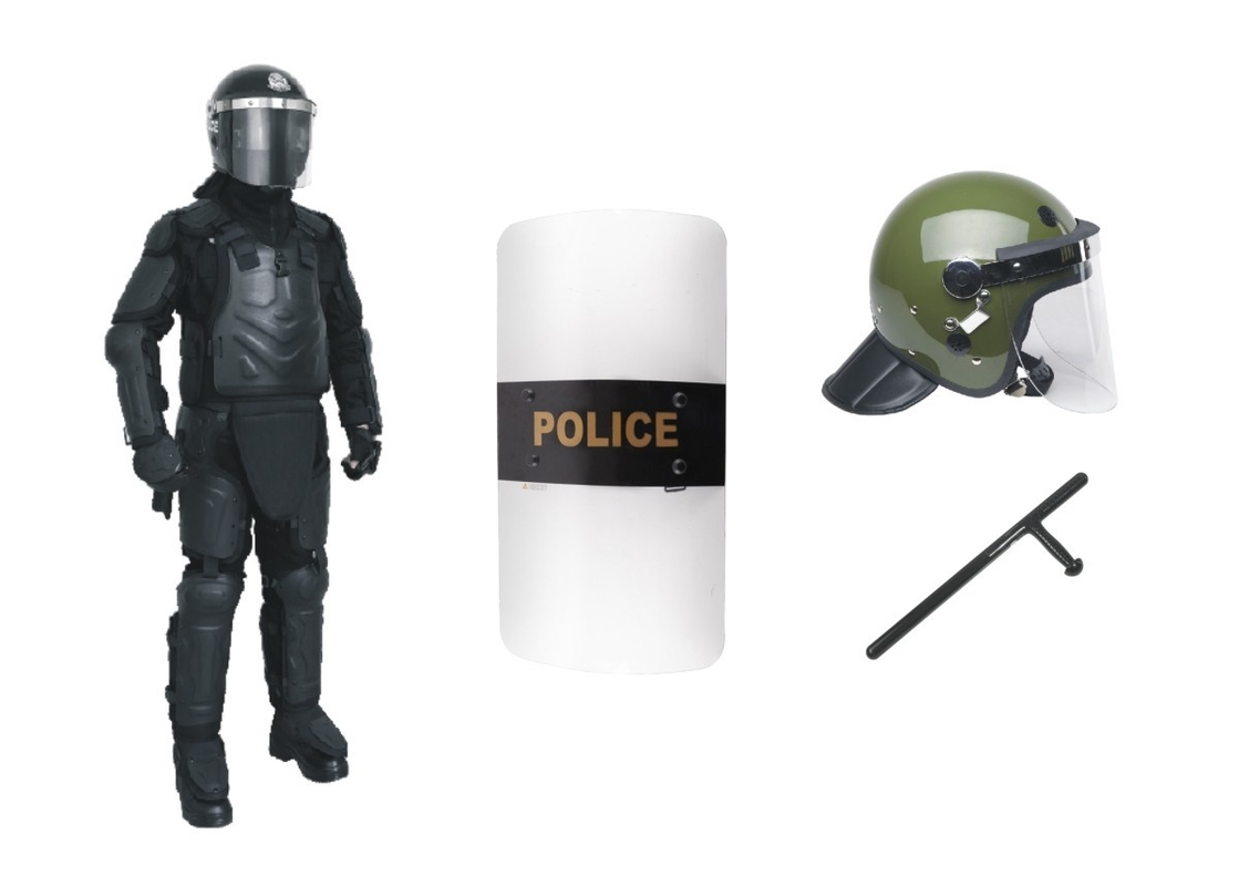 Riot Control Police Safety Equipment , Law Enforcement Tactical Gear Anti Riot Suit